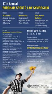 2013 Sports Law Symposium